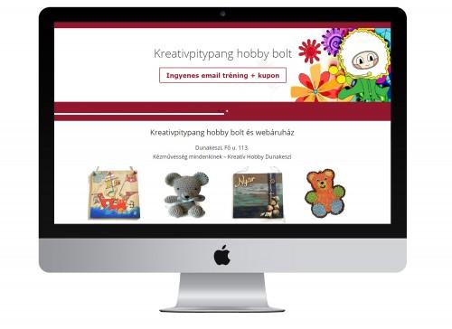 Birkás Balázs hallgatónk egy hobby bolt számára készített weboldalt | www.kreativpitypang.hu