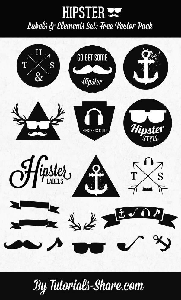 Hipster-Free-Vector-Labels