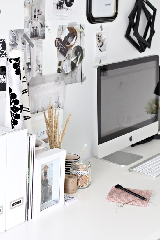 black white home office cococozy 3