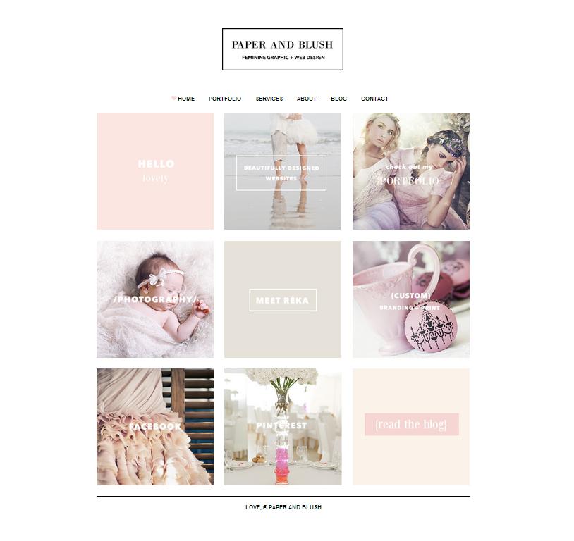 Réka saját weboldala is az ő saját kis stílusában készült. Olyanra készítsük a weboldalunkat, amilyen célcsoportot szeretnénk vonzani vele.