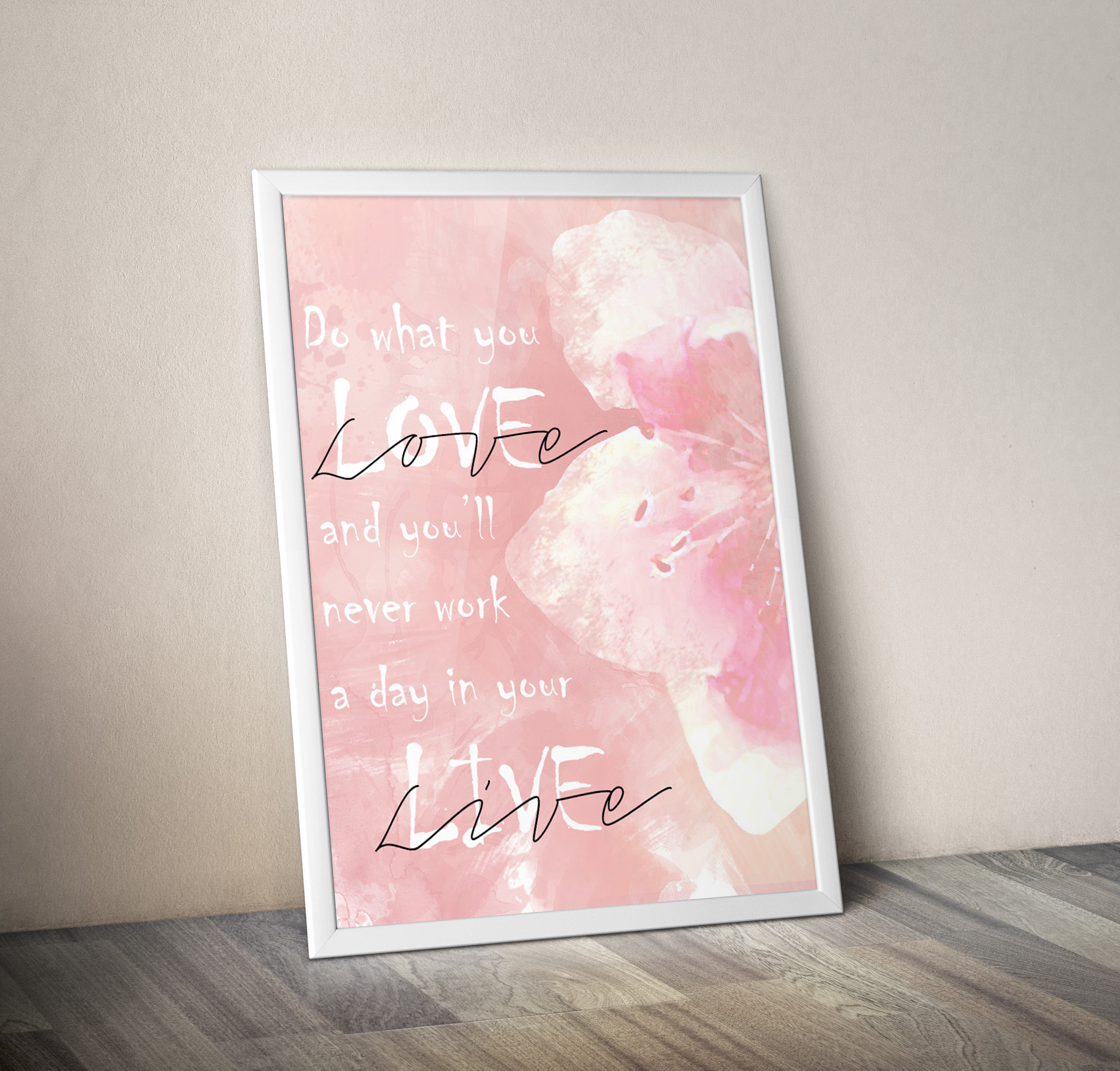 watercolour poster mockup