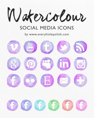 watercolour-social-media-icons