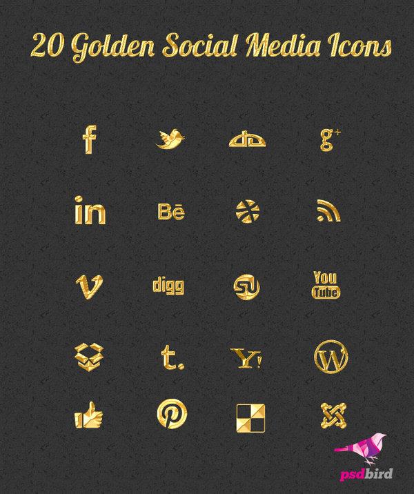 20_golden_social_media_icons_psd_by_psdbird-d6eq5xd