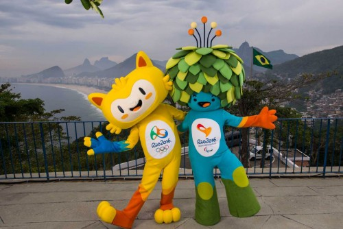 The unnamed mascots of the Rio 2016 Olympic and Paralympic Games are pictured with the Copacabana beach in the background during their first appearance in Rio de Janeiro, November 23, 2014, in this handout courtesy of the Brazil Olympic Committee (COB) These mascots of Rio 2016 Olympic and Paralympic Games are inspired by the Brazilian fauna and flora, and their names will be decided through a public vote, according to the COB. REUTERS/Alex Ferro/COB/Handout via Reuters (BRAZIL - Tags: SPORT OLYMPICS SOCIETY TPX IMAGES OF THE DAY) ATTENTION EDITORS - THIS PICTURE WAS PROVIDED BY A THIRD PARTY. REUTERS IS UNABLE TO INDEPENDENTLY VERIFY THE AUTHENTICITY, CONTENT, LOCATION OR DATE OF THIS IMAGE. FOR EDITORIAL USE ONLY. NOT FOR SALE FOR MARKETING OR ADVERTISING CAMPAIGNS. THIS PICTURE IS DISTRIBUTED EXACTLY AS RECEIVED BY REUTERS, AS A SERVICE TO CLIENTS
