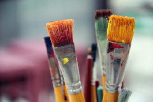 Creative artistic painting brushes