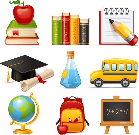 multicolor_school_icon_vector_535123