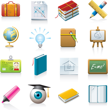multicolor_school_icon_vector_535147