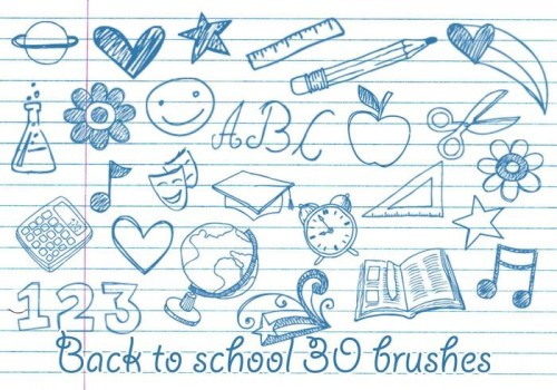 school-doodles-brushes