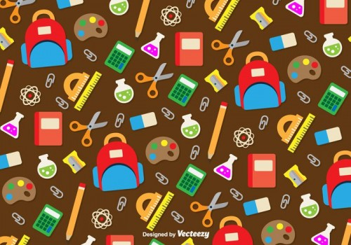 school-utensils-icons-background-vector